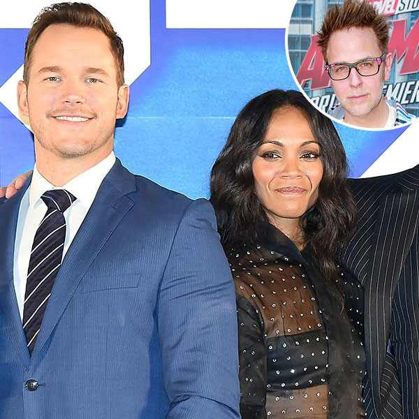 Chris Pratt, Zoe Saldana, James Gunn